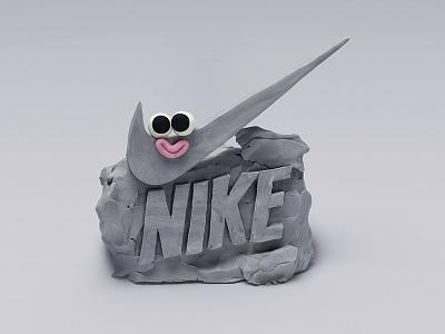 NIKE LOGO type brand logo logodesign air nike sculpting modelling clay plasticine