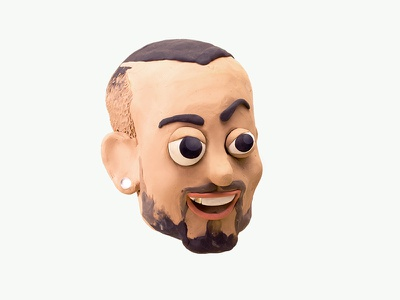 GUE swag rap italian rapper caricature characterdesign character faces clay sculpiting modelling plasticine