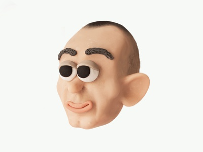 FABRI FIBRA swag rap italian rapper caricature characterdesign character faces clay sculpiting modelling plasticine