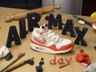 Air Max Day sneakers airmaxday airmax nike clay characterdesign sculpting modelling plasticine