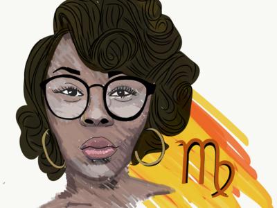 VectorPortraits- Virgo illustration style adobe draw illustration glasses virgo zodiac vector vector portrait
