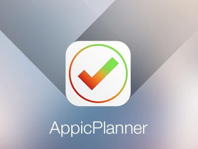 Appicplanner app icon iphone logo planner green orange red tick check