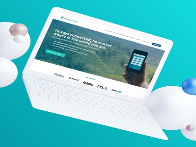 We-stream branding marketing website webdesign