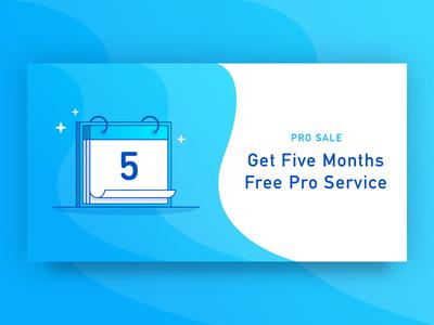 Pro Sale Ad sale icon blue ad calendar
