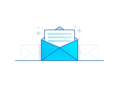 Mail notification envelope icon mail