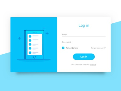 Log in ui game icon illustration sign in phone login