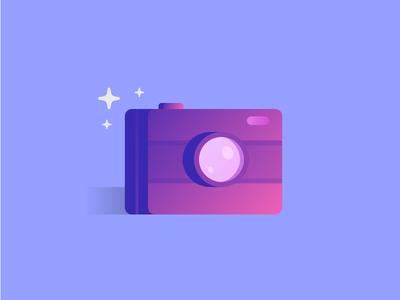 Camera gradient flash icon camera