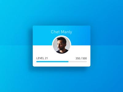 Level UI bar graph progress profile xp level