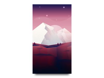 Mountain hills trees landscape game ios mountain