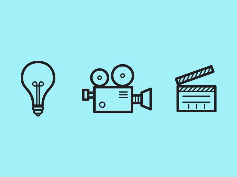 Lights, Camera, Action! by Dan Hess - Dribbble