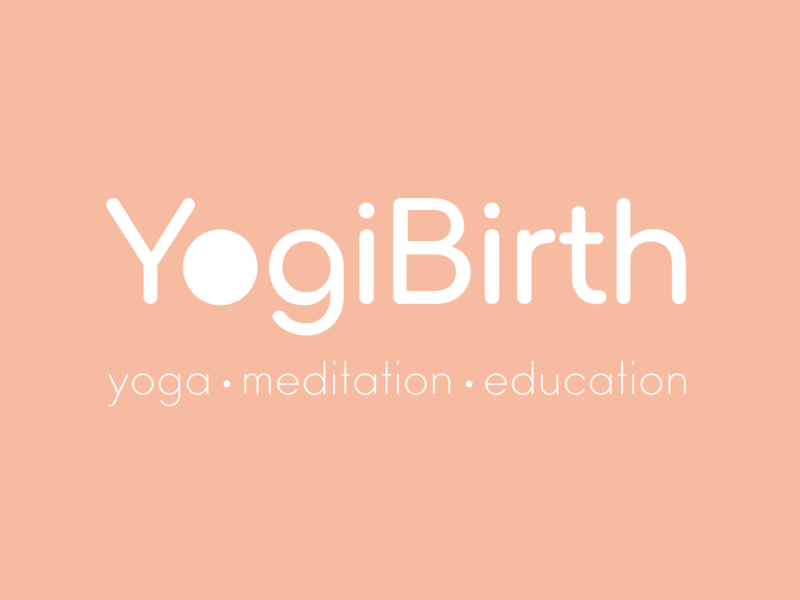 Yogi Birth typography branding flat pregnancy pregnant yoga logotype design illustration art logo