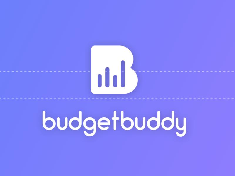 BudgetBody app flat icon illustration typography vector design branding logotype logo