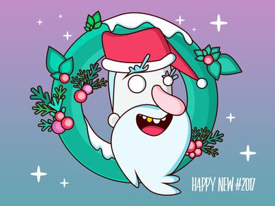 Happy New #2017!!!!  design illustration christmas merry christmas santa new year 2017 happy new year new year