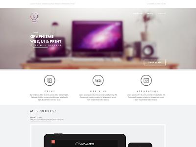 Portfolio redesign redesign portfolio graphisme graphiste web print workspace contact menu header logo