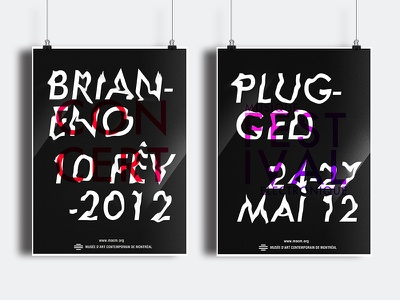 MACM Posters festival music musique affiche montreal musée museum typography plugged poster concert