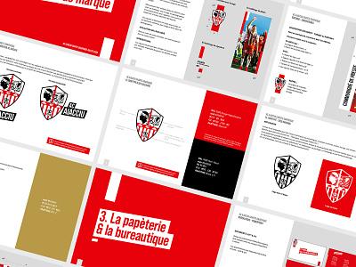 Charte graphique AC Ajaccio soccer football sport app football branding sport design creative montpellier france ligue 1 brand guidelines branding