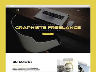 Portfolio 2020 website webdesigns montpellier amiens freelance portfolio site branding webdesign graphic designer portfolio
