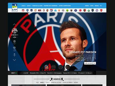 LFP Website website webdesign football ligue 1 soccer paris redesign flat