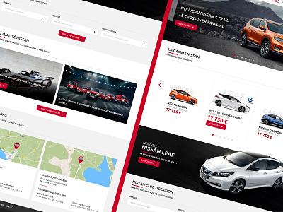 Nissan Corse Webdesign adobe xd webdesign website automobile nissan