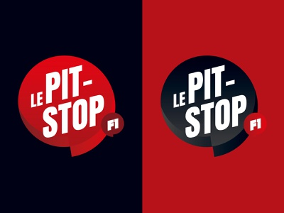 """Le Pit-Stop F1"" Logo podcast youtube talking automotive f1 formule 1 branding redesign racing formula 1 logo"