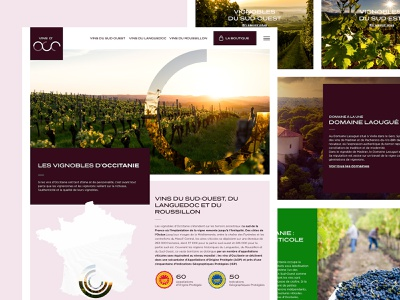 Vins d'occ - Webdesign beverage food label graphicdesign wine glass wine bottle winery website wine label roussillon toulouse beziers languedoc montpellier occitanie webdesigns webdesign vintage wine