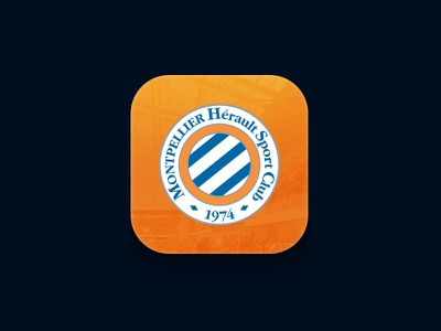 MHSC App icon mhsc montpellier sport application app iphone football soccer