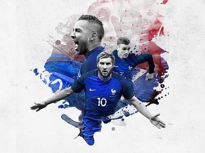 EURO 2016 - Équipe de France soccer sport euro illustration football team french
