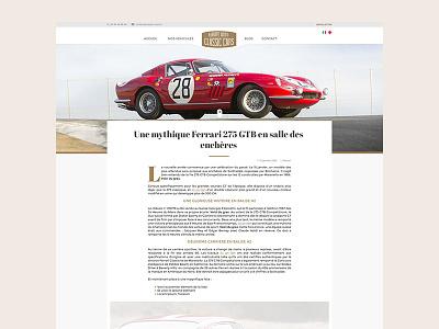 Blog - Article page webdesign website site ferrari automobile cars single article page blog