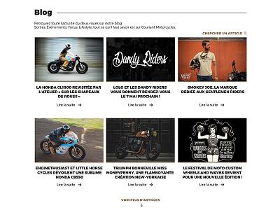 Blog part. motorcycles news article webdesign wordpress blog