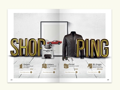 Shopping Page cars editorial design edition print page magazine shopping