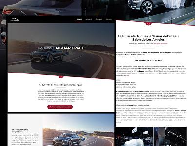 Nouveau Jaguar I-PACE luxury luxe ipace site web karita automotive automobile webdesign website jaguar