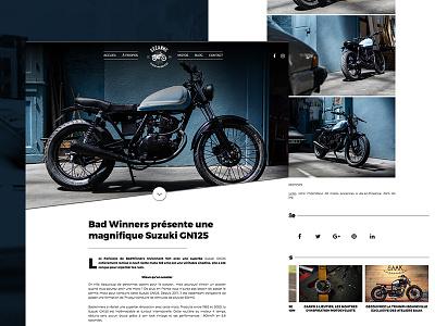 Motorcycles blog 🏍 caferacer custom motor wordpress blog actu news webdesign site web motorcycles moto