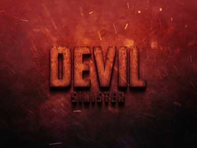 Cinematic Horror Movie Title Text Effect movie title movie poster movie design typography text mockup text effects text effect text
