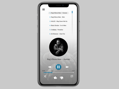 Music Player icon app ux ui typography design dailyui day 9