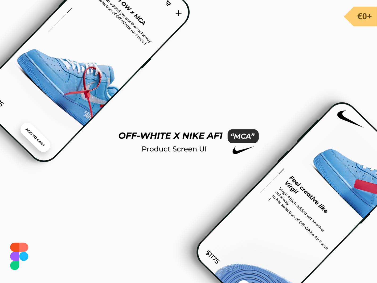 Free Download Off White X Nike Af1 Mca Product Screen Ui By