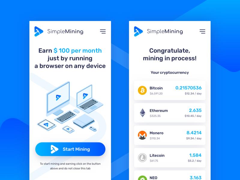 Cryptocurrency Mining Platform by Andrey Ershov on Dribbble
