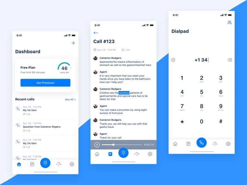 VOIP app clean ios script dialpad caller customer service voice call center call dialer voip