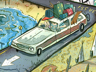 Paste Magazine - The Road Issue usa american station wagon vacation road trip road