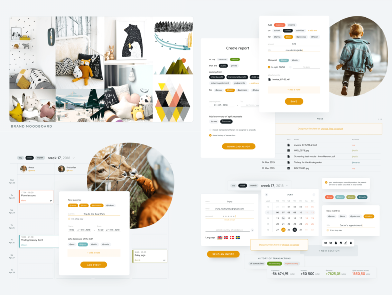 Treat your moodboard as your design North Star! family parents kid care branding process design token design system product ui visual language branding moodboard