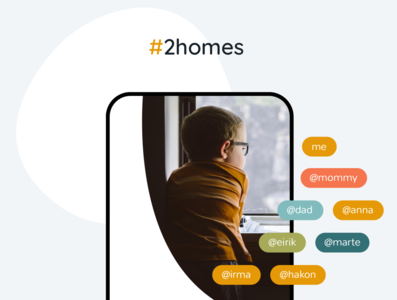 2homes case study design token product langiage product branding children nordic coparenting family kids app