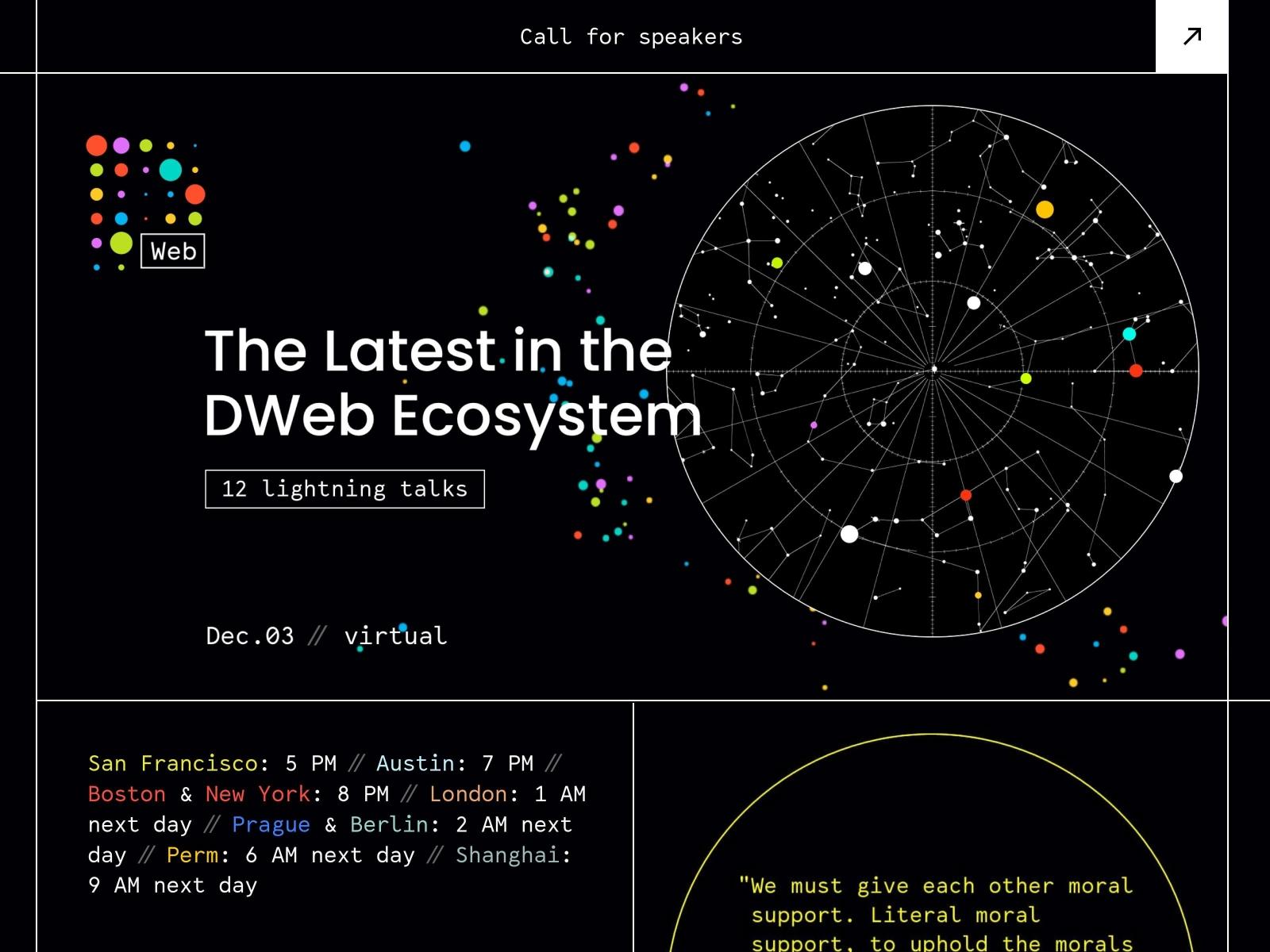 DWeb meetup - December cover