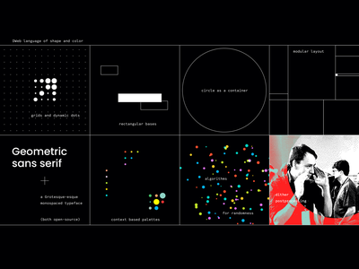 Breaking down the DWeb visual language modular design grid layout colorful logo atmosphere visual identity design system community brand identity