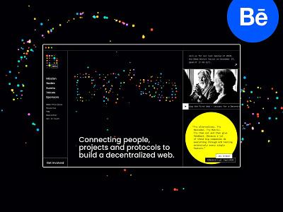 DWeb design case on Behance community brand hero visual case study dark web dots hub community decentralization
