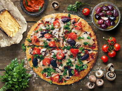 Exam preparation shot - photo-manipulation step pizza food cooking ingredients retouching app dps ace