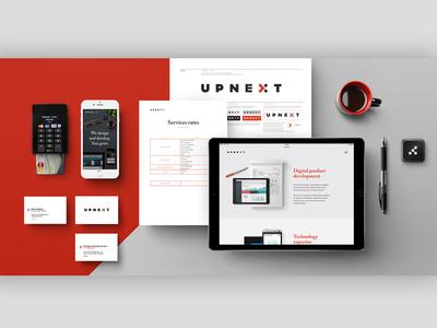 Upnext  |  Fintech software experts  |  Brand Identity