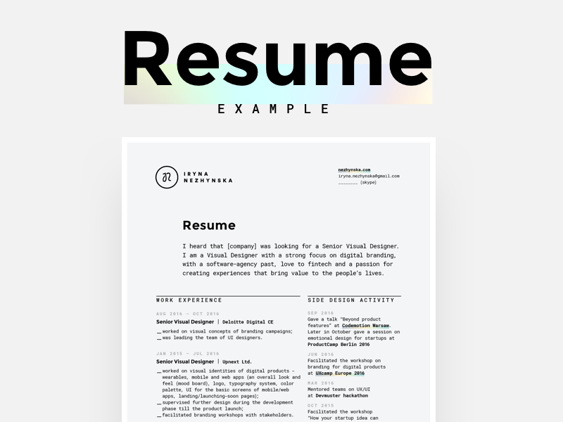 Charming Senior Digital Designer Resume Gallery - Example Resume and ...