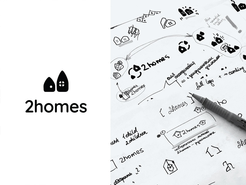 2homes logo sketches nezhynska