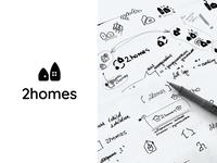 2homes - Logo sketches