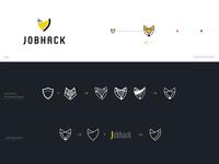 JobHack logo concept