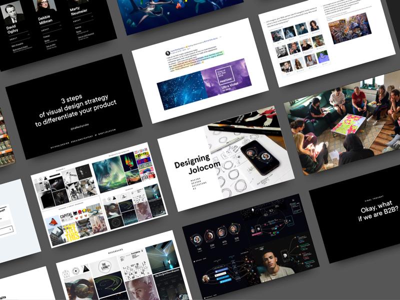 UX/UI Berlin #24 - Takeaway slides branding design process meetup slides talks design strategy visual design